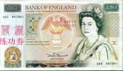 BOC (Bank Of China) Training Banknote, England Banknote Specimen Overprint - Groot-Brittannië