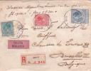 Pays-Bas 1939 BELLE Lettre CHARGÉE Affrt TRICOLORE Obl DELFT Lettre Valeur Déclarée Pour Bruxelles Belgique Hollande - 1891-1948 (Wilhelmine)