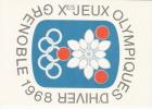 Cartolina Non Viaggiata Affrancata Con Francobollo Francese E Annullata Con Timbro Speciale - Inverno1968: Grenoble
