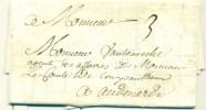 France - Précurseur De Lille Vers Audenarde (Be) Du 25/05/1723, Taxe 3 Décimes, See Scan - 1701-1800: Vorläufer XVIII