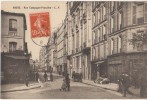 CPA 75 PARIS XIV Rue Campagne Première Commerces Hôtel Animation 1914 - District 14