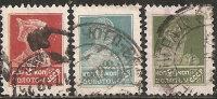 1923 Used - Yv. 248B;256B;258B - Mi. 244B;252B;254B - 3v Dent.12 O - 1917-1923 Republic & Soviet Republic