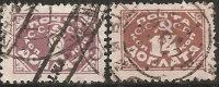 1925 Tasse Used - Yv. 11; 16 - 2k; 14k O - Qualche Dente Corto