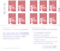 """CARNET 3419-C 15 Marianne Du 14 Juillet TVP Type II """"LE SALON DU TIMBRE"""" Daté 02.04.04 Produit TRES RARE - Carnets"""