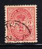 Danish West Indies Used Scott #29 2c Coat Of Arms - Danemark (Antilles)