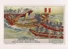 ### Chromo, Liebig, Histoire Du Japon, Destruction De La Flotte Mongole, Explication Au Verso - Liebig