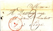 LAC De HERVE Datée Du 8 Janvier 1847 Vers LIEGE - Signé BAYAUX-PARIS Imprimeur Libraire à Herve - 1830-1849 (Belgique Indépendante)