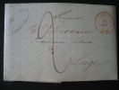LAC De HUY Datée Du 14 Juillet1847 Vers LIEGE + CACHET Et FACTURE ILLUSTREE De La Firme J.L. GODIN & Fils à HUY - 1830-1849 (Belgique Indépendante)