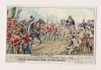 ### Chromo, Liebig, Histoire De L'Italie, Entrevue De Victor Emmanuel II Et Garibaldi à Teano 1860, Explication Au Verso - Liebig
