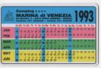 Alt021 Calendario Tascabile, 1993, Pubblicità Camping, Campeggio Marina Di Venezia, Venice Camping, Punta Sabbioni - Calendari