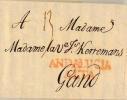 1775 Cadiz M.Andalucia Alta Bf U.TaxStpl.13 N.Gand - ...-1850 Vorphilatelie