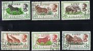 1961  Animaux  Série Complète Oblitérés - Ethiopie