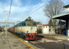 79 FS Treni E655.073 Voltana  (RA) Rotabili Tpaívo Railroad Trein Railways Zug Treno Steam Chemin De Fer Italtrafo Sofer - Stations With Trains
