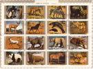 UMM AL QIWAIN  1972  Animaux  En Voie De Disparition 2 Blocs De 16 Différents Michel 1370-85, 1530-45 Oblitérés - Umm Al-Qaiwain