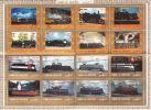 UMM AL QIWAIN  1972  Locomotives Série Complète Bloc De 16 Différents Michel 1210-1225 Oblitérés - Umm Al-Qiwain