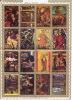 UMM AL QIWAIN  1972  Tableaux Vie Du Christ  2  Blocs De 16 Différents Michel 1970-85, 1162-77   Oblitérés - Umm Al-Qaiwain