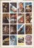 UMM AL QIWAIN  1972  Voyages Dans L'espace Bloc De 16 Différents  Michel 1066-81 Oblitérés -- Space - Umm Al-Qiwain