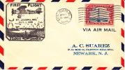 1929  CAM 28 First Flight St Joseph MO Night Flight Sc C11 - Air Mail