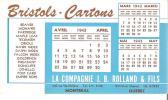 La Cie J. B. Rolland & Fils Montreal Bristols - Cartons - Blotters