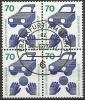 1973 Germania Federale - N. Michel 773 X 4 Block - Quartina Usato - [7] Repubblica Federale