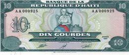HAITI 10 GOURDES 1991 P 256 UNC - Haïti