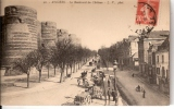 CPA MAINE ET LOIRE (49) Le Boulevard Du Chateau BELLE ANIMATION   TBE - Angers