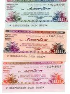 Italia ITALY 100 Lire 200 LIRE 300 LIRE  1977 - IL BANCO DI CHIAVARI E DELLA RIVIERA LIGURE Assegni E Miniassegni - [10] Chèques