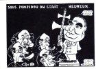 """THEME - Illustrateur Signé LARDIE - """" SOUS POMPIDOU ON ETAIT HEUREUX """" - Série Limitée  - - Satira"""