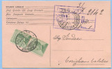 1926 MICHETTI C. 20 VERDE COPPIA ISOLATA SU CARTOLINA AZIENDALE 2.7.26 TARIFFA C.P.  SPLENDIDA QUALITÀ (DC3920) - Storia Postale