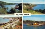 1973 Great Britain Colour Picture Postcard With 4 Views Of Milford Haven, Good Franking - Unknown County