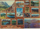 1977 Great Britain Colour Picture Postcard With 15 Views Of Scotland, Proper Franking - Caernarvonshire