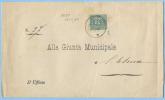 1885 UMBERTO C. 5 ANGOLO INFERIORE SX INVISIBILE DIFETTO ALTRIMENTI SPLENDIDO ISOLATO 25.2.8...VEDI DESCRIZIONE (DC3964) - Storia Postale