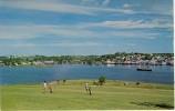 1967 Canada Colour Picture Postcard Of Lunenburg And Golf Course NS, Proper Franking - Nova Scotia