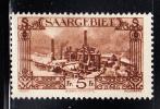 Saar MH Scott #135 5fr Burbach Steelworks - 1920-35 Société Des Nations