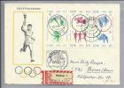 Motiv Olympia 1964 Tokio DDR 8-Block Auf R-Brief - Summer 1964: Tokyo