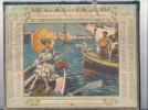 Calendrier Almanach Des Postes - 1922 Version Luxe Double Cartonnage Et Livret  Complet Voir Descriptif -TTBE - Grand Format : 1921-40