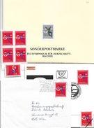 1508s: Austria Herzschrittmacher- Weltsymposium: Schwarzdruck Plus Viererblock **, Einzel- Und Mustermarke, 2 Belege - Medicine
