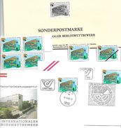 1508x: Austria Berufswettbewerb: Schwarzdruck Plus Viererblock **, 2 FDCs, Einzel- Und Mustermarke - Métiers