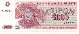 MOLDOVA 5000 CUPON 1993 PICK # 4 UNC. - Moldavië