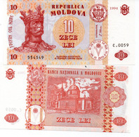 Moldova, 1 Leu, 1992 (1993) Ex-USSR, P-5, UNC - Moldavië