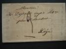 LAC De STAVELOT Datée Du 4 Février 1845 Vers LIEGE - Signé BREDA à STAVELOT - 1830-1849 (Belgique Indépendante)