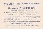 ¤¤  -  Attention Carte De Visite   -  TOULON  -  Atelier De Réparations De L'Horloger Georges MATHEY  -  ¤¤ - Visiting Cards