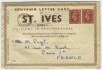 LETTRE CARTE 1952 ST IVES  6 VUES DE CAMBORN  ( CORNWALL  ) POUR PARIS LETTER CARD - 1952-.... (Elisabetta II)