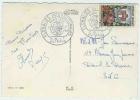 OBLITERATION FLORALIES 1959 CNIT PUTEAUX SUR  CP SOUVENIR - Marcophilie (Lettres)