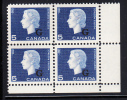 Canada MNH Scott #O49 5c Cameo With 'G' Overprint Lower Right Plate Block (blank) - Overprinted