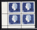 Canada MNH Scott #O49 5c Cameo With ´G´ Overprint Lower Left Plate Block (blank) - Officials