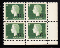 Canada MNH Scott #O47 2c Cameo With ´G´ Overprint Lower Right Plate Block (blank) - Officials