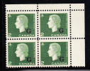 Canada MNH Scott #O47 2c Cameo With ´G´ Overprint Upper Right Plate Block (blank) - Officials