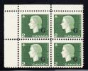 Canada MNH Scott #O47 2c Cameo With ´G´ Overprint Upper Left Plate Block (blank) - Overprinted
