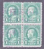 U.S. 552 X 4   (o) BOXED  SONOMA, CA. Cd.  Perf 11  No Wmk.  1922-5 Issue - United States